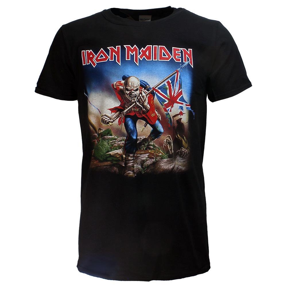 Band Merchandise Iron Maiden The Trooper Band T-Shirt Zwart