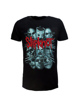 Band Merchandise Slipknot Masks Official Band T-Shirt