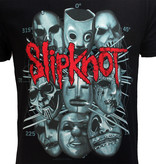 Band Merchandise Slipknot Masks Official Band T-Shirt Zwart