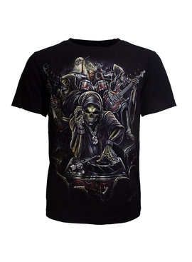 Rock Eagle / Biker T-Shirts Biker T-Shirt Skull Reaper Live Band Glow in the Dark