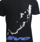 Band Merchandise Post Malone Stoney Live Close-up T-Shirt Zwart
