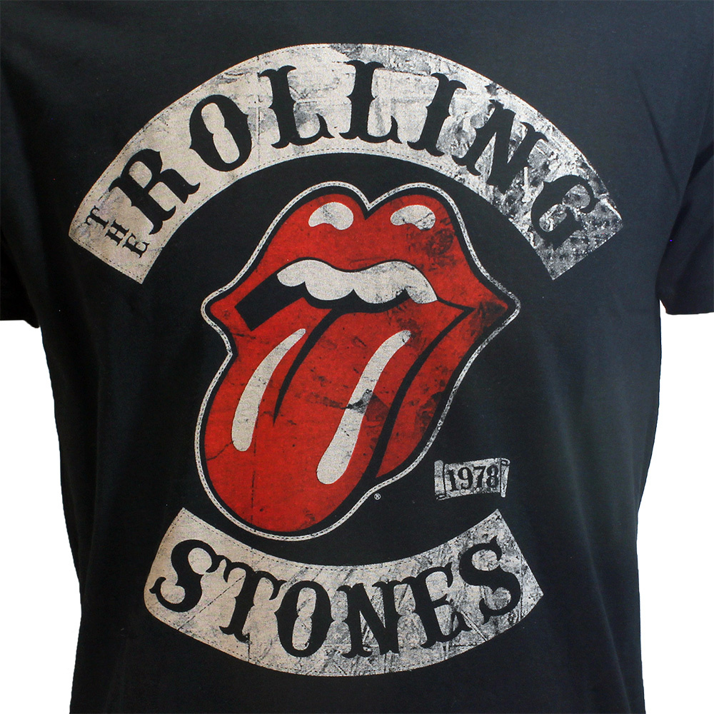 Band Merchandise The Rolling Stones 1978 Tour T-Shirt Zwart