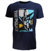 Band Merchandise The Police Message In A Bottle Official T-Shirt Blauw