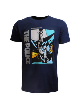 Band Merchandise The Police Message In A Bottle Official T-Shirt
