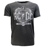 Band Merchandise AC/DC Black Ice Burn Out Style T-Shirt Grey
