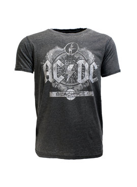 Band Merchandise AC/DC Black Ice Burn Out Style T-Shirt