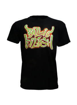 Band Merchandise Billie Eilish Neon Graffiti T-Shirt