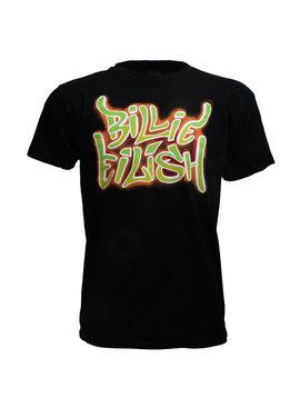 Band Merchandise Billie Eilish Neon Graffiti T-Shirt