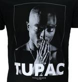 Band Merchandise 2PAC Tupac Praying T-Shirt Zwart