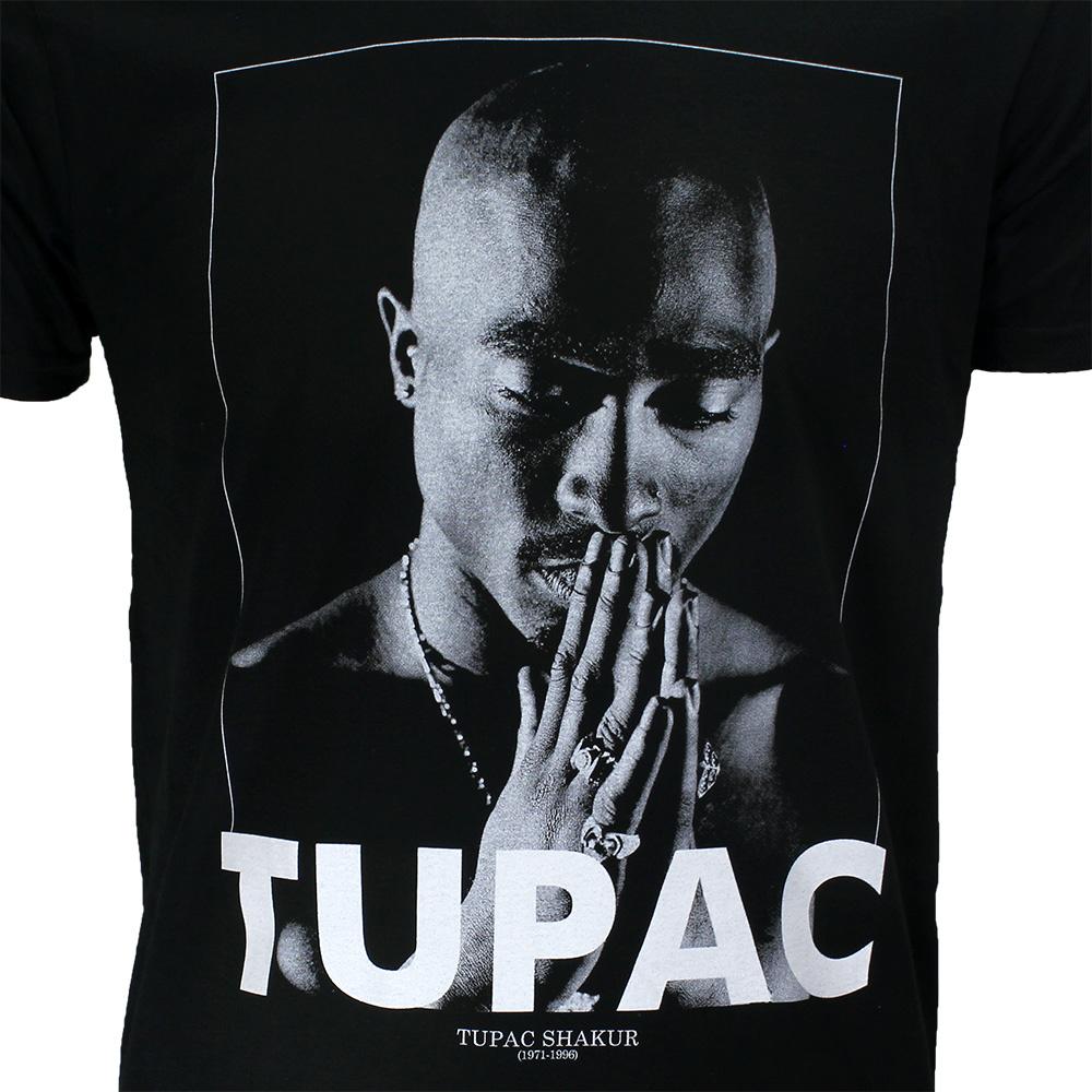 Band Merchandise 2PAC Tupac Praying T-Shirt Black