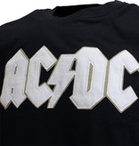Band Merchandise AC/DC Geborduurd Logo met Angus Patch T-Shirt Zwart