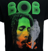 Band Merchandise Bob Marley Smoking Da Herb T-Shirt Zwart