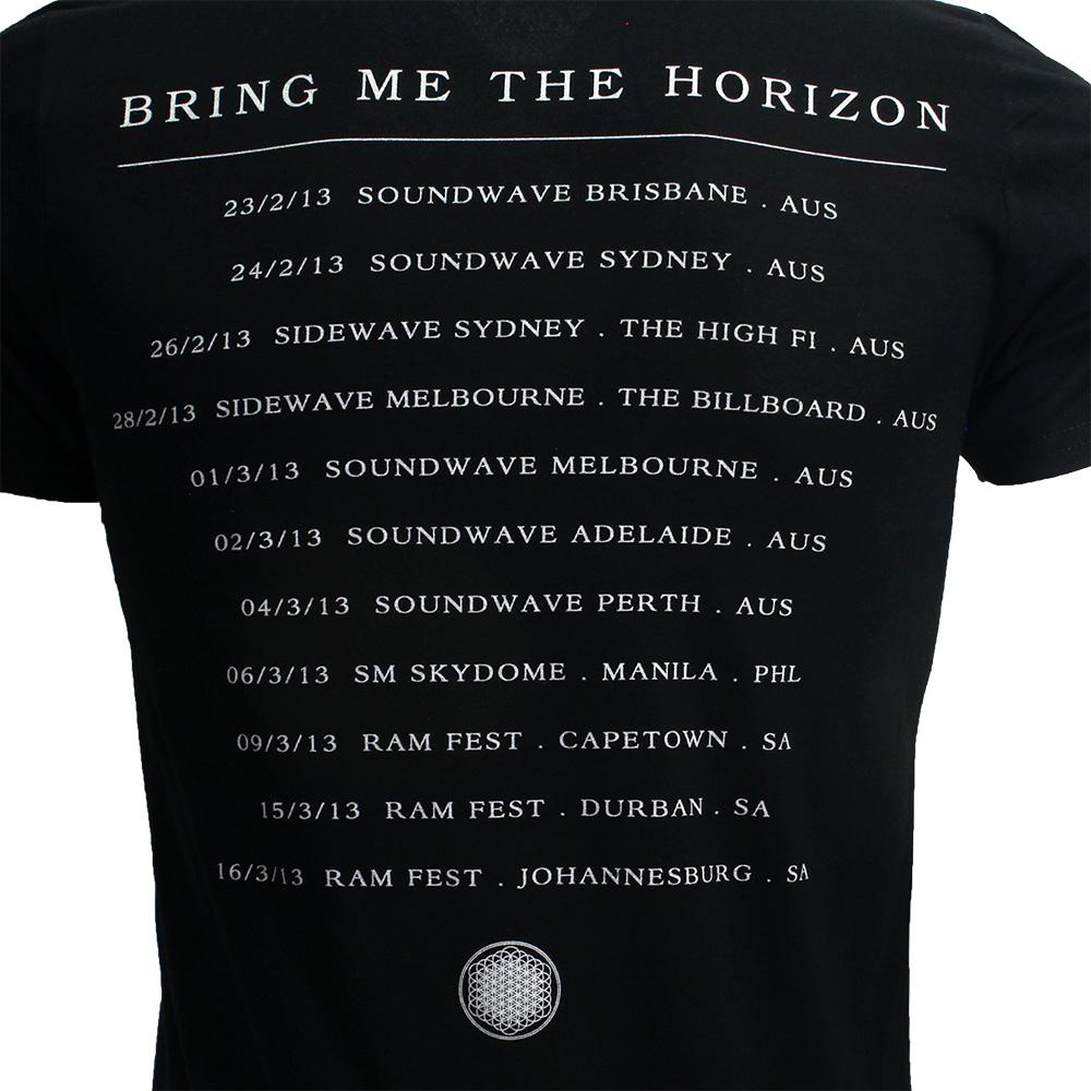 Band Merchandise Bring Me The Horizon Sempiternal Tour T-Shirt Zwart
