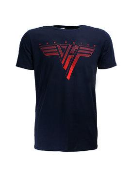 Band Merchandise Eddy Van Halen Classic Red Logo T-Shirt