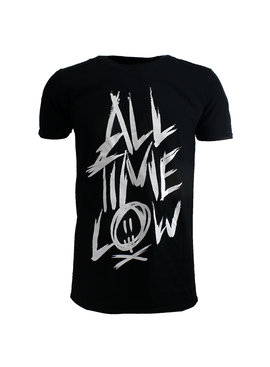 Band Merchandise All Time Low Scratch Official Band T-Shirt