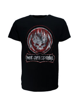 Band Merchandise The Offspring Distressed Skull T-Shirt