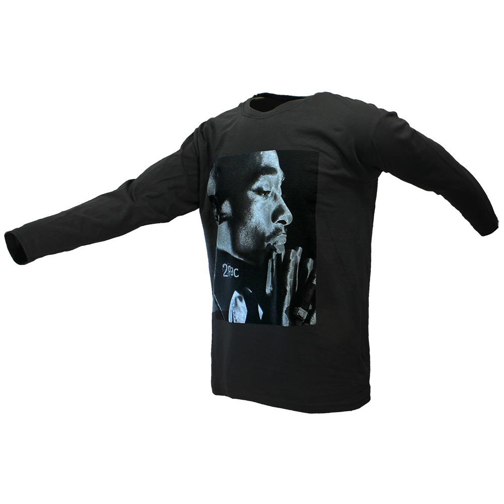 Band Merchandise 2PAC Tupac Changes Longsleeve T-Shirt Grey