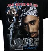 Band Merchandise 2PAC Tupac Shakur All Eyez On Me T-Shirt Zwart