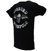 Band Merchandise Avenged Sevenfold Death Vleermuis Skull T-Shirt Zwart