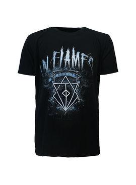 Band Merchandise In Flames Battles Crest T-Shirt
