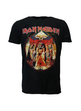 Band Merchandise Iron Maiden Powerslave Lightning Circle T-Shirt