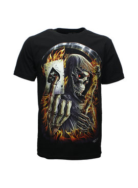 Rock Eagle / Biker T-Shirts Biker T-Shirt Death Reaper Schoppen Aas Glow in the Dark