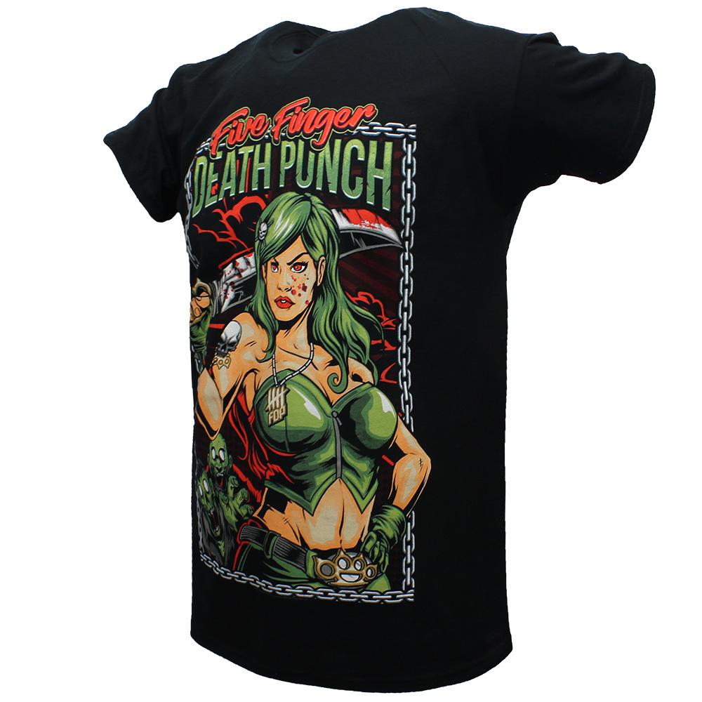 Band Merchandise Five Finger Death Punch Assassin T-Shirt Black