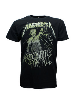 Band Merchandise Metallica Justice For All Vintage T-Shirt