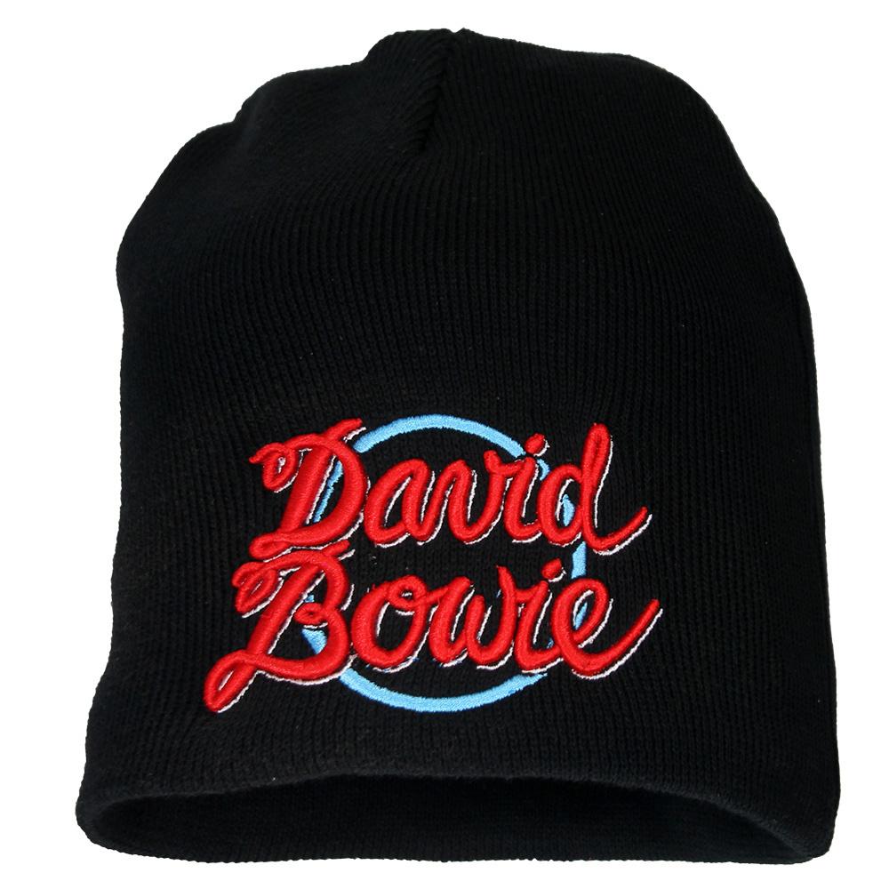 Band Merchandise David Bowie World Tour 1978 Beanie Muts Zwart