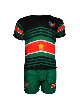 Suriname Surinam Techno Style Football Kit Set T-Shirt + Shorts