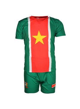 Suriname Suriname Oldschool Style Voetbal Tenue T-Shirt + Broek Set