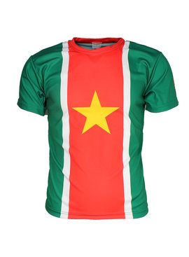 Suriname Suriname Oldschool Style Voetbal T-Shirt