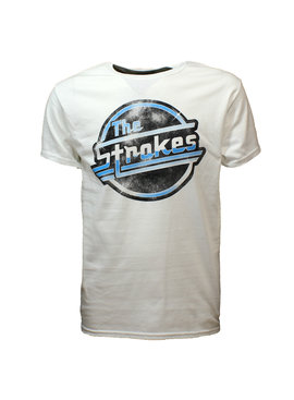 Band Merchandise The Strokes Distorted Logo OG Magna T-Shirt Wit