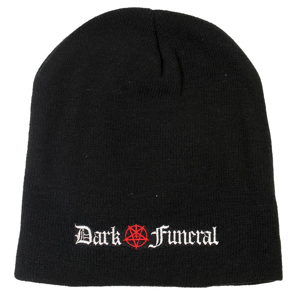 Band Merchandise Dark Funeral Logo Beanie Muts Zwart - Official Band Merchandise
