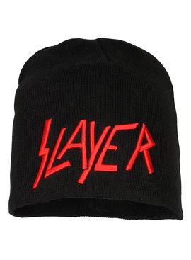 Band Merchandise Slayer Geborduurd Logo Beanie Muts Zwart