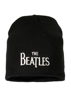 Band Merchandise The Beatles Logo Beanie Hat Black
