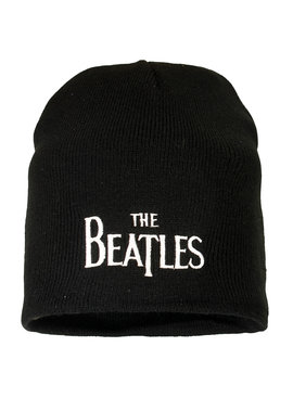 Band Merchandise The Beatles Logo Beanie Muts Zwart
