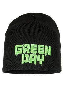 Band Merchandise Green Day Logo Beanie Hat Black / Green