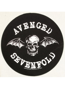 Band Merchandise Avenged Sevenfold  Death Bat Design Large Round Backpatch