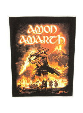 Band Merchandise Amon Amarth Surtur Rising Motief Grote Rugpatch