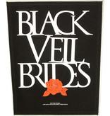 Band Merchandise Black Veil Brides Rose Motief Grote Rugpatch Zwart/Wit - Officiële Merchandise