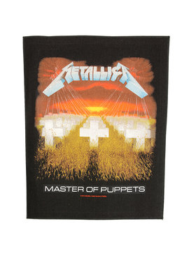 Band Merchandise Metallica Master Of Puppets Motief Grote Rugpatch