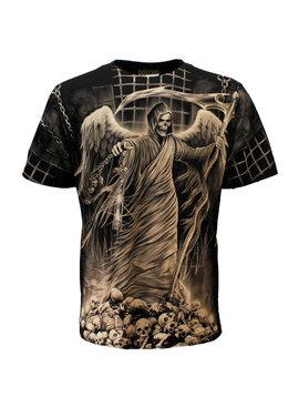 Rock Eagle / Biker T-Shirts Rock Eagle Biker Imprisoned Angel Of Death T-Shirt Zwart