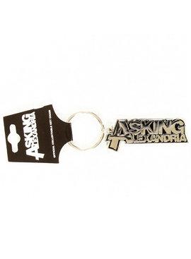 Band Merchandise Asking Alexandria Metal Logo Keychain