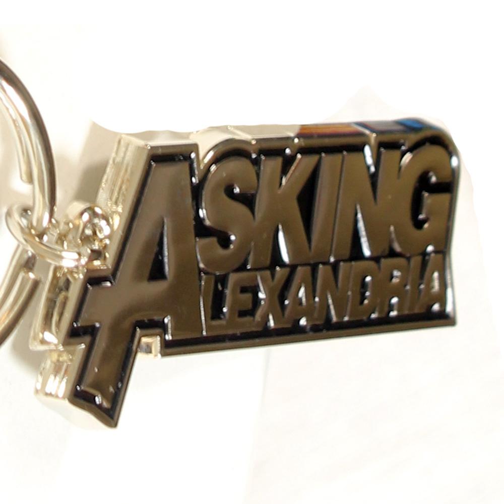Band Merchandise Asking Alexandria Metalen Logo Sleutelhanger Zilver