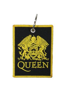 Band Merchandise Queen Twee Zijdige Patch Classic Crest Logo Sleutelhanger