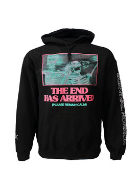 Band Merchandise Bring Me The Horizon PHSH The End Has Arrived Arm Print Hoodie Sweater Trui