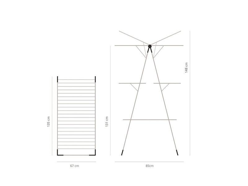 Brabantia Droogtoren 23 meter drooglengte Metallic Grey