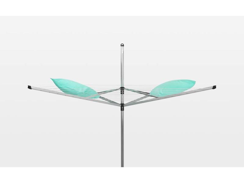 Brabantia Droogmolen Lift O Matic 60 meter met grondanker en beschermhoes groen