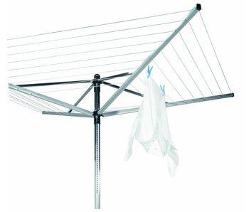 Brabantia Droogmolen Lift O Matic 50 meter met grondanker, beschermhoes en wasknijpertas!